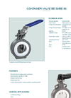Model BE 50/BE 80 Container Valve - Datasheet