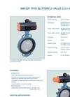 Model Z 011-B  - Wafer Type Butterfly Valve - Datasheet