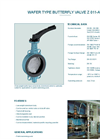 Model Z 011-AS - Light Weighted Wafer Type Valve - Datasheet