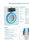 Model T 212-A - PTFE-Lined Butterfly Valve - Datasheet