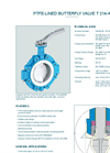 Model T 214-A  - PTFE-Lined Butterfly Valve - Datasheet
