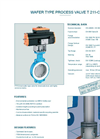 Model T 211-C - Wafer Type Process Valve - Datasheet