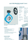 Model T 214-C - PTFE-Lined Lug Type Process Valve - Datasheet