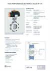 Model HP 114 - High Performance Butterfly Valve - Brochure
