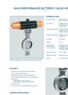 Model HP 114-E - High Performance Butterfly Valve - Datasheet
