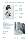 Model HP 112 - Double-Flanged Butterfly Valve - Datasheet