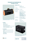 Model EB-SYD - Double Acting - Pneumatic Actuator - Datasheet