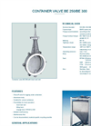 Model BE 250/BE 300 - Container Valve - Datasheet