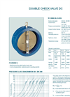 Model DC - Double Check Valve - Datasheet