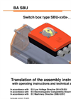 Type SBU - Switch Box - Manual