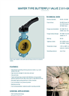 Model Z 011-GMX - Wafer Type Butterfly Valve - Datasheet