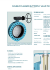 Model F 012-A - Double Flanged Butterfly Valve - Datasheet