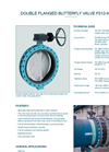 Model  F012-K1 / WN - Double Flanged Butterfly Valve - Datasheet