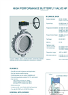 Model HP 114-K3 - Lug Type Butterfly Valve - Datasheet