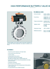 Model HP 300 - High Performance Butterfly Valve - Datasheet
