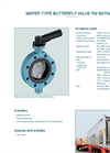 Model TW 80/TW 100 - Wafer Type Butterfly Valve - Datasheet