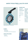 Model TW 150/TW 200 - Wafer Type Butterfly Valve - Datasheet