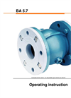 Model QV - Pinch Valve - Operating Instruction Manual