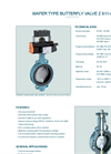 Model Z 611-A - Wafer Type Butterfly Valve - Datasheet