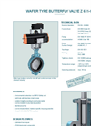 Model Z 611-C - Wafer Type Butterfly Valve - Datasheet