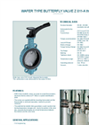 Model Z 011-A Therm - Wafer Type Valve with Integrated Thermometer - Datasheet