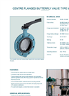 Model M015-A - Centre Flanged Butterfly Valve - Datasheet