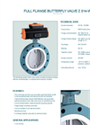 Model Z 014-WN - Full Flange Butterfly Valve - Datasheet
