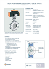 Technical Datasheet HP 114 Valve EBRO