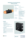 Technical Datasheet EB-SYS Pneumatic Actuator EBRO