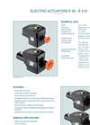 Technical Datasheet E50-E210 Electric Actuator EBRO