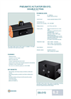Technical Datasheet EB-SYD Pneumatic Actuator EBRO