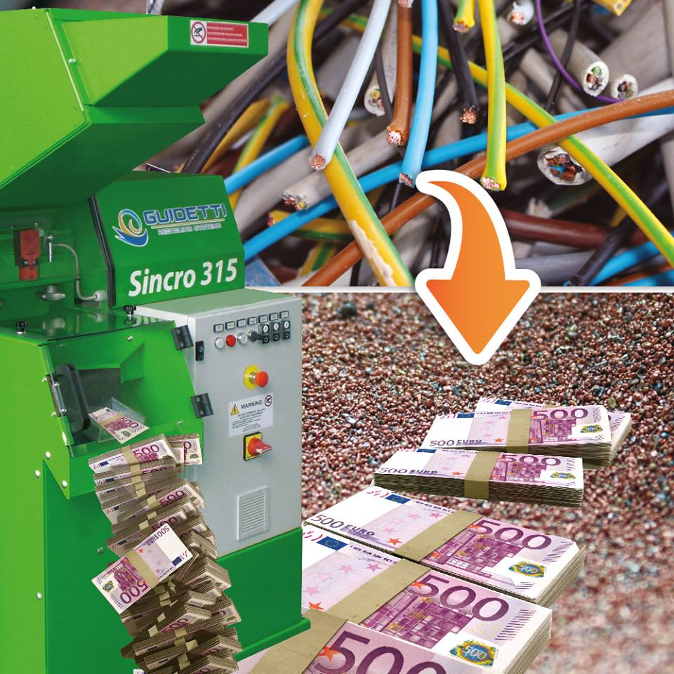 THANKS TO GUIDETTI EQUIPMENT, YOU CAN CONVERT YOUR WASTE IN VALUABLE RAW MATERIALS.