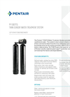 9100TS Water Softener Specifications Sheet