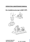 Centrifugal Pump - OM manual BTP