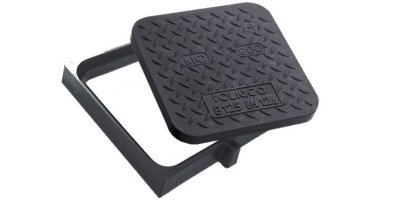 KIO - Model Square FLAT FRAME Class B125 - Manhole Cover (Composite Material)