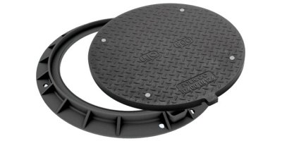 KIO - Model Round Class D400 Ø 800 - Manhole Cover (Composite Material)