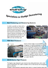 Belt Thickening and Dewatering Systems Brochure (PDF 362 KB)