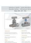 Model 010 - 011 - 012 - Needle Valves Brochure