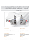 Model 252 - Angled Bonnet Threaded 2 Valves Manifold Brochure