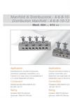 Model 604...612++ - Distribution Manifold Brochure