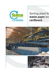 Sorting Plant for Waste Paper and Cardboard Brochure