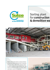 Sorting Plant for Construction & Demolition Waste Brochure