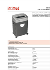 intimus 2000 S Document Shredder Datasheet
