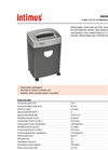intimus 3000 S Document Shredder Datasheet