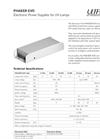 Phaser EVO Electronic Power Supplies for UV-Lamps Brochure