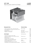 UVT 1000 Power Controler for UV Lamps Brochure