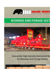 Automatic High Density Horizontal Baler for Biomass and Forage Baling - Brochure