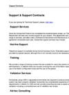 Support Services Brochure