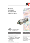 Passvie Pressure Transmitter TM and TM / Ex Brochure
