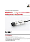 STS - Model ATM.ECO/N - Analog Level Transmitter Temperature Compensated - Datasheet